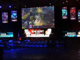Team Secret vs Team Monkey Business at the MLG World Finals in New Orleans.