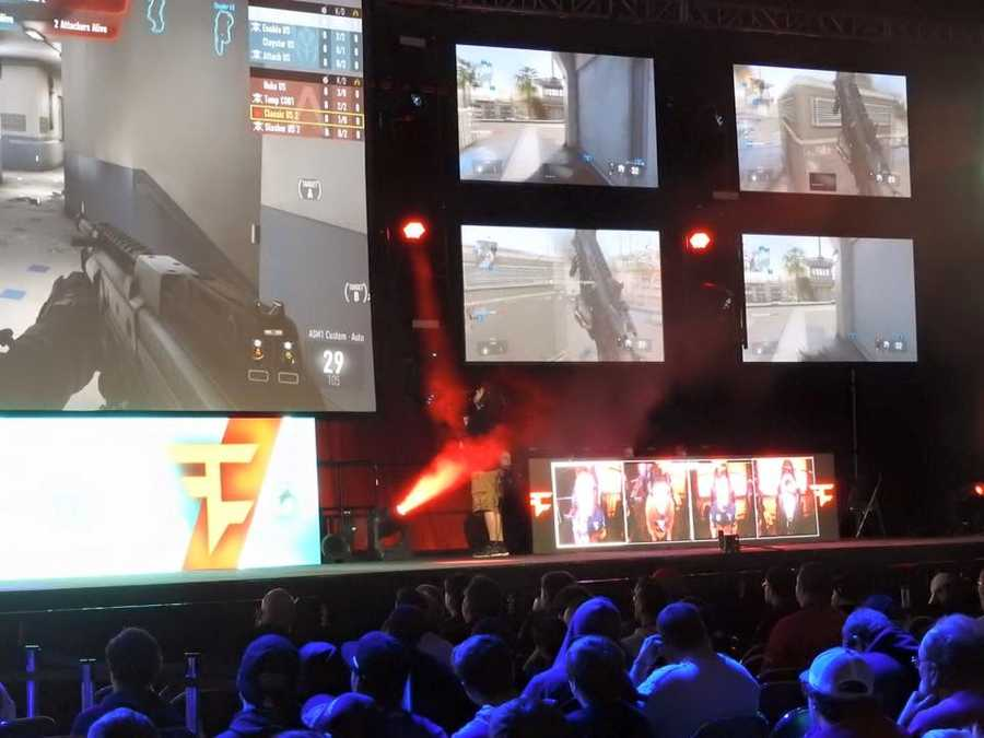 Team Faze playing Call of Duty at MLG World Finals in New Orleans.