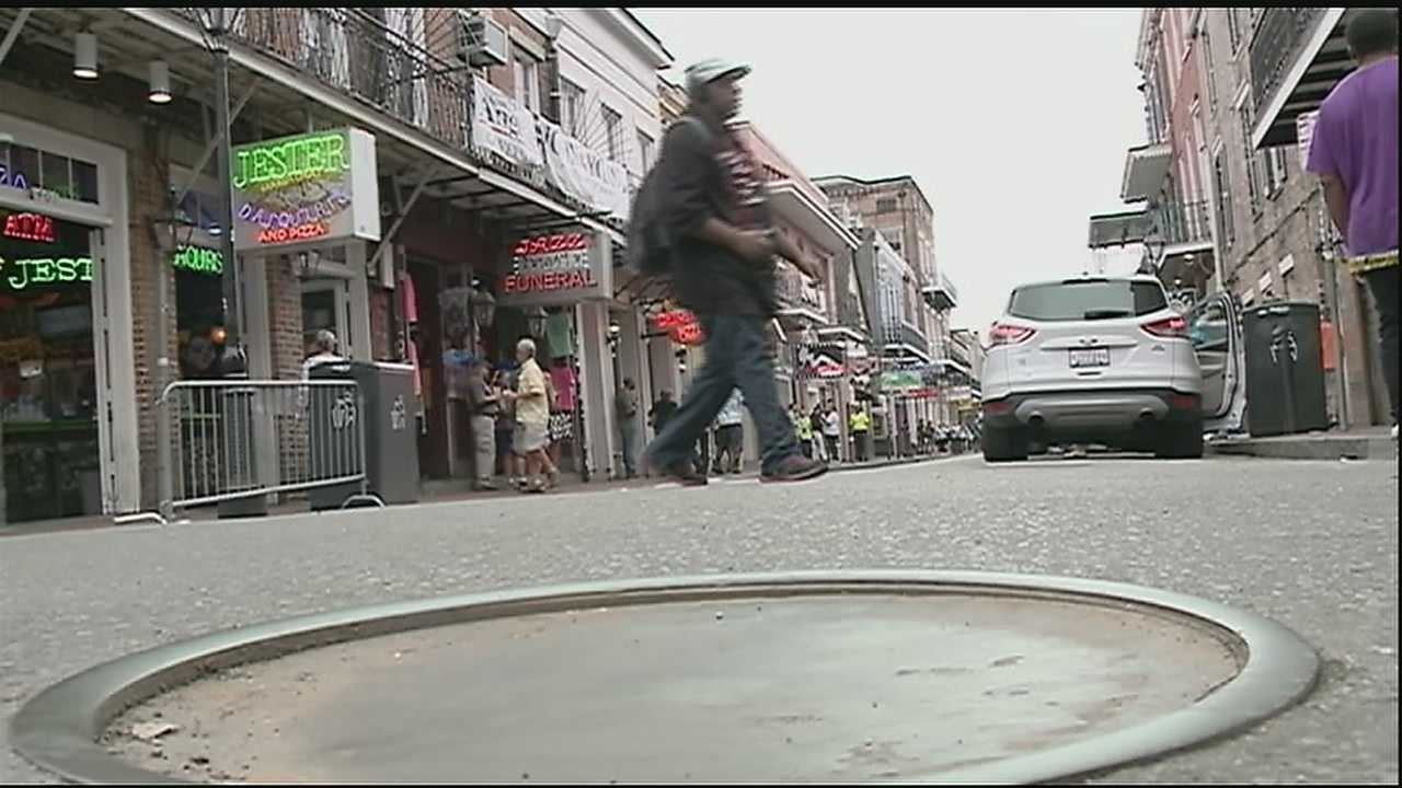 Five French Quarter strip clubs on Bourbon Street were charged Tuesday on multiple counts of prostitution, drugs and lewd acts.