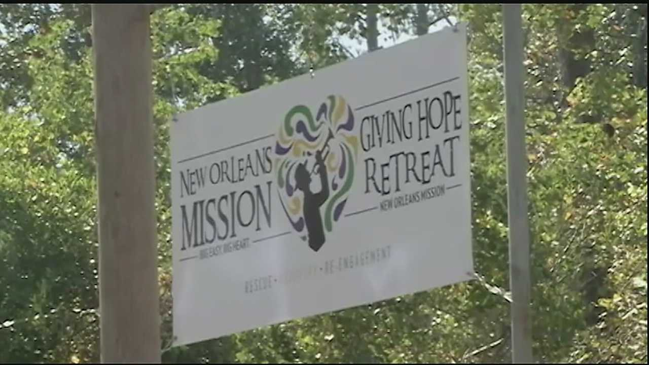 "The New Orleans Mission unveiled ""The Giving Hope Retreat"" near Lacombe today, a 60 acre, 9 building facility to help people facing homelessness, addiction, or mental illness."