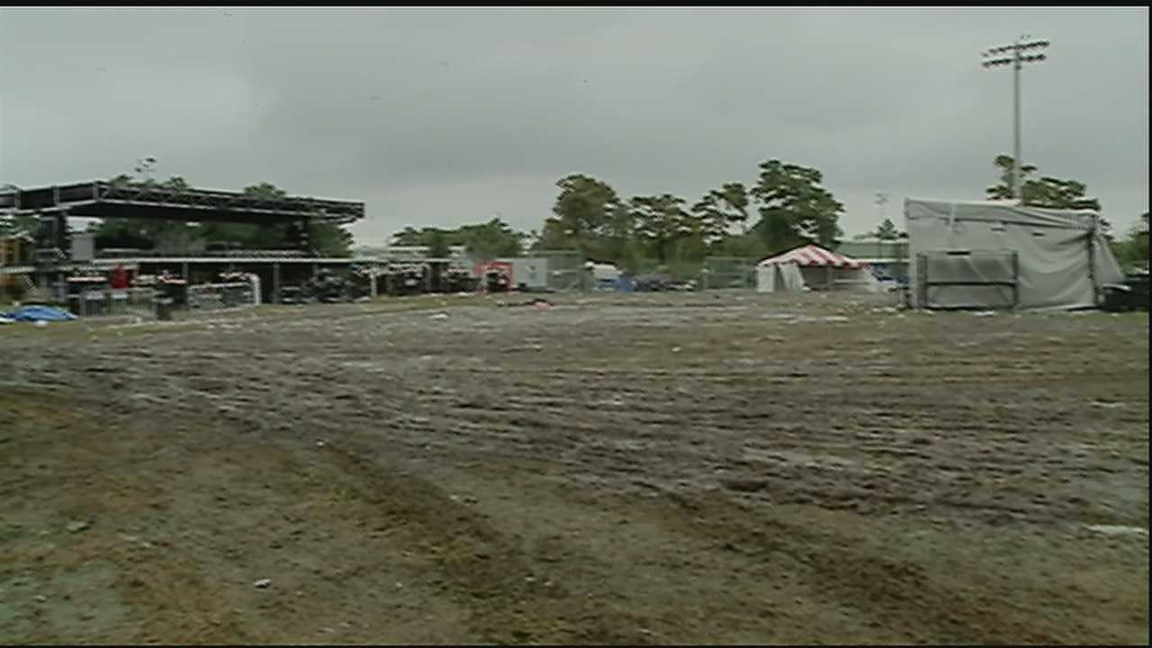 The crowds are long gone, but the mud at City Park's festival grounds following weekend rains and Voodoo Fest is causing its own set of problems.