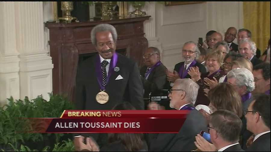 Allen Toussaint is honored with the National Medal of Arts by President Barack Obama in 2013 at the White House. (2013)