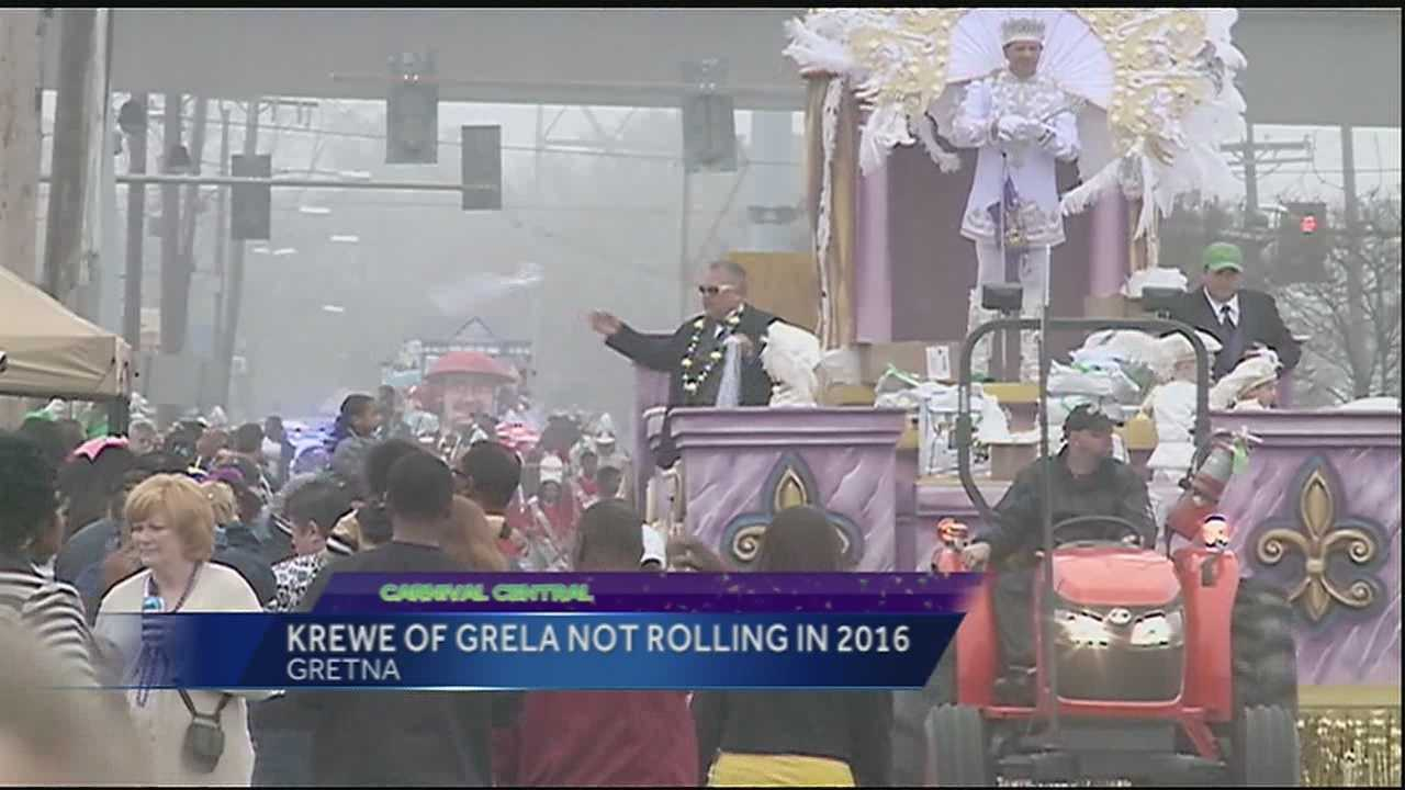 The Krewe of Grela says it won't roll on Fat Tuesday 2016.