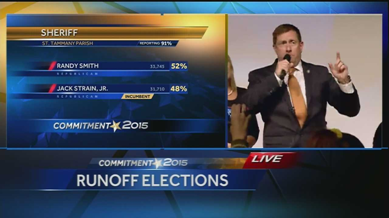 Randy Smith gives victory speech in St. Tammany sheriff race
