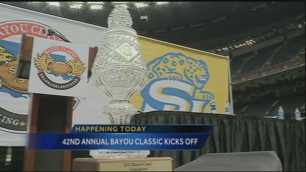 New Orleans city officials, tourism leaders and coaches and athletes from Southern and Grambling universities will announce details of the 42nd annual Bayou Classic at a news conference Tuesday morning.