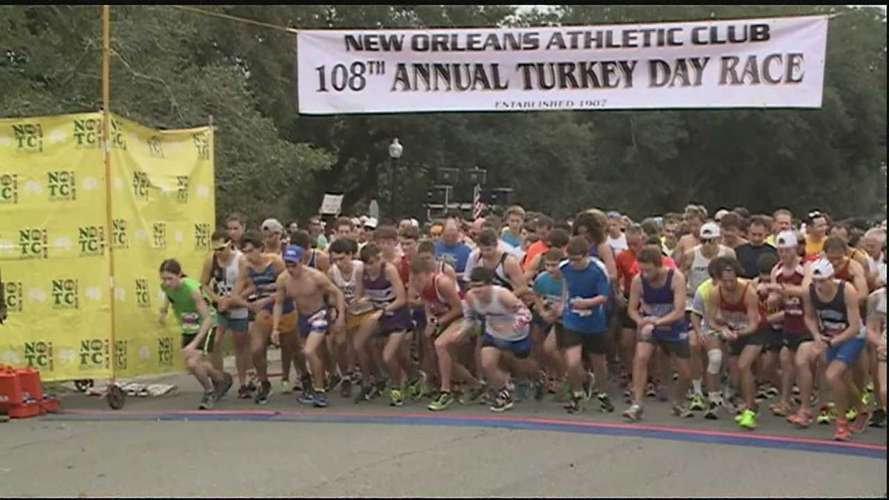 While some people opted to sleep in or stay home and cook Thanksgiving morning, thousands of people from across the New Orleans opted to get out and get moving at the 2015 Turkey Day Race.