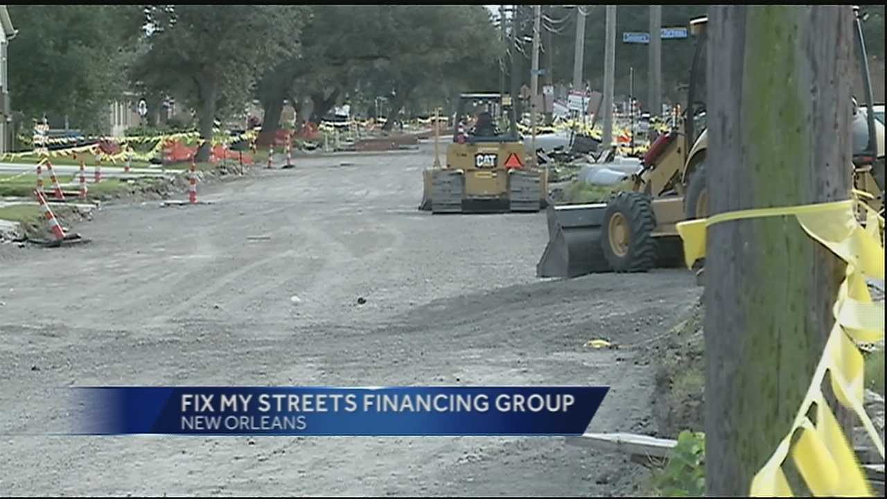 New Orleans Mayor Mitch Landrieu announced Monday the creation of the Fix My Streets financing group. The group's goal is to come up with a way the city can pay for street repairs.