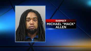 """Michael """"Mack"""" Allen, 29, was identified as a suspect on Dec. 4. He remains at-large on 17 counts of attempted first-degree murder."""