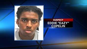 """Eddie """"Eazy"""" Copelin, 20, was identified as a suspect Dec. 6. He was arrested Saturday night on 17 counts of attempted first-degree murder."""