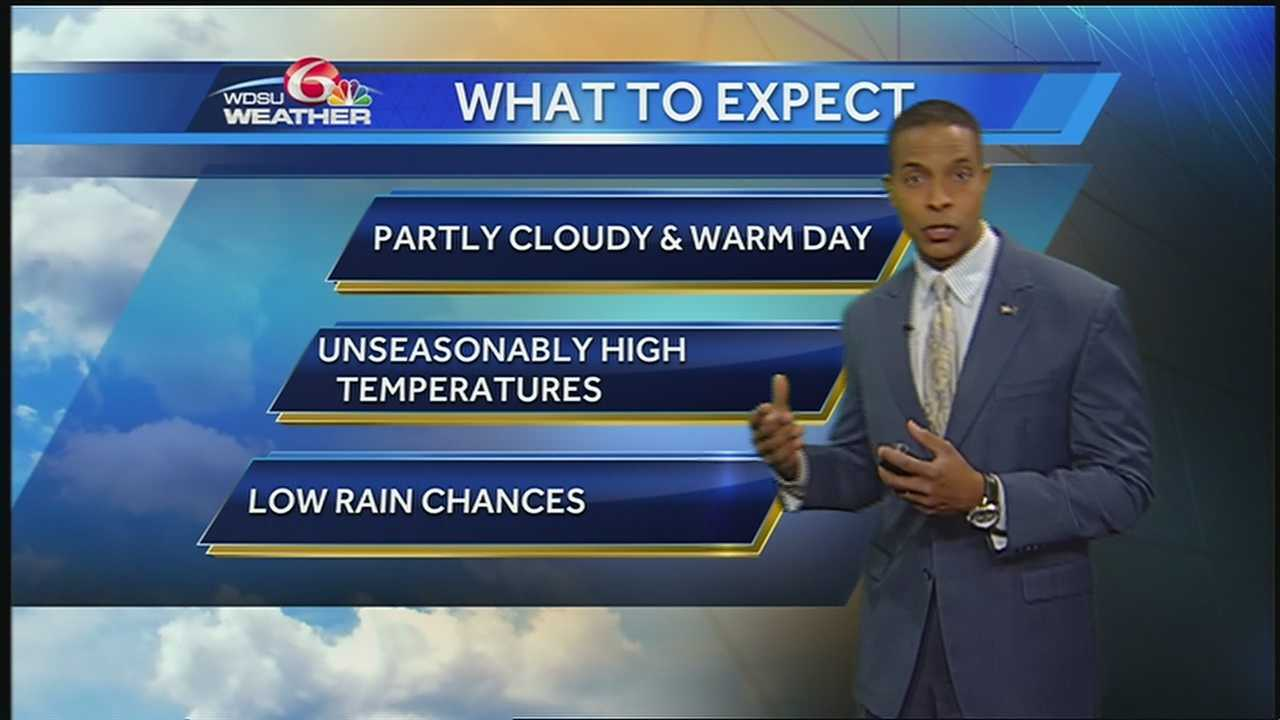 Expect mostly sunny to partly cloudy and warm conditions with afternoon highs in the low to mid70s.