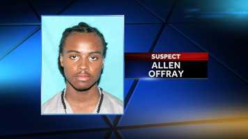 """Allen """"Snoop"""" Offray was identified as a suspect Dec. 8. He is wanted on 17 counts of attempted first-degree murder."""