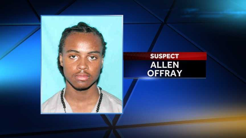 "Allen ""Snoop"" Offray was identified as a suspect Dec. 8. He is wanted on 17 counts of attempted first-degree murder."