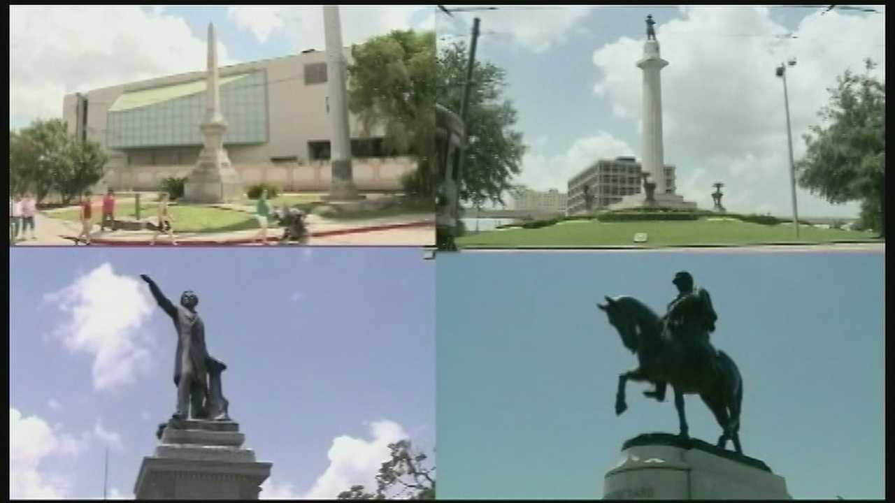 A debate before the City Council to remove prominent Confederate monuments along some of New Orleans' busiest thoroughfares is stirring emotions as supporters on both sides of the issue flocked to City Hall.