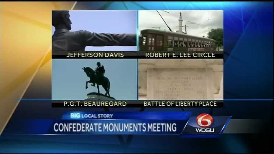 Aug. 13, 2015: Historic District Landmarks Commission votes to recommend the removal of the four Confederate monuments, which is sent to City Council.