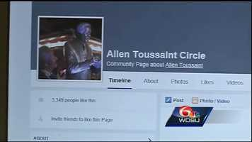 Nov. 12, 2015: Days after his death, a group begins push to rename Lee Circle after legendary musician Allen Toussaint.