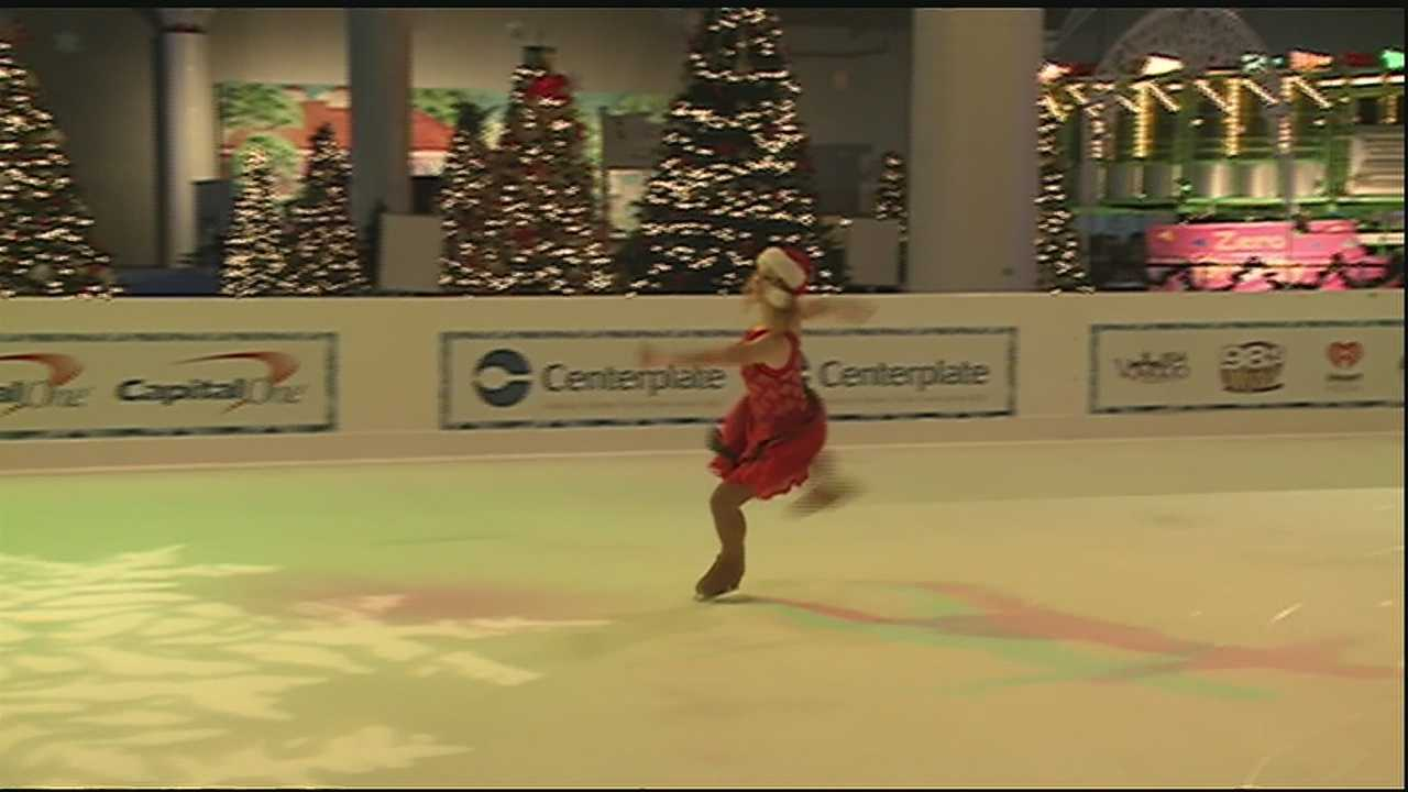 The featured event this year is the indoor ice-skating rink. The rink is 50 feet wide and 100 feet long and sits in the center of Hall B inside the New Orleans Morial Convention Center.