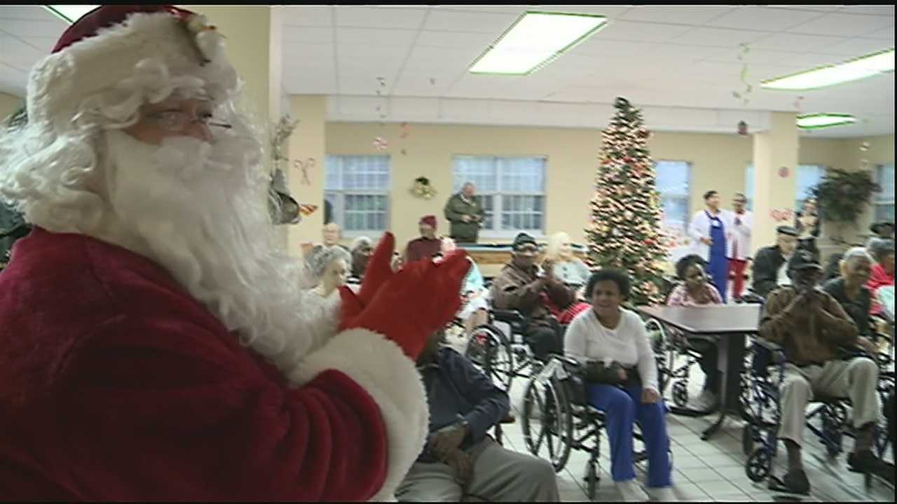 Orleans Parish Sheriff Marlin Gusman and his staff spent the day spreading Christmas cheer to residents at several senior living facilities across the city.