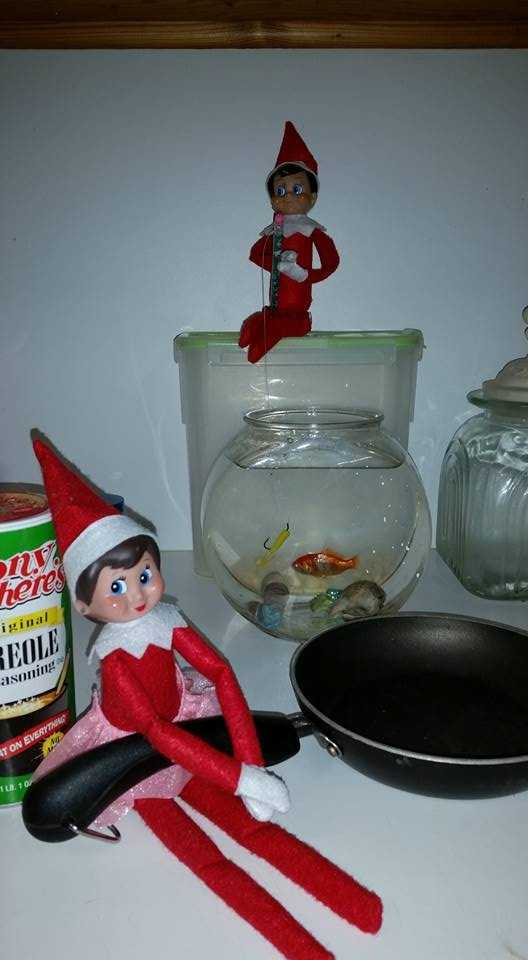 "Brad Rhodes: ""Elf Thibodeaux and Clotille lookin fa dat late night snack."""