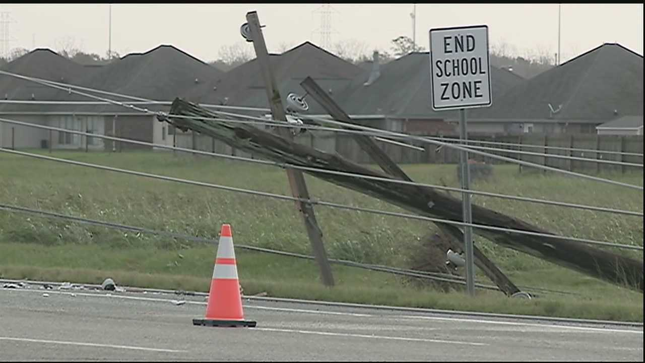 Overnight and early morning storms that rolled through southeast Louisiana made for a very busy morning for emergency crews in the LaPlace area.