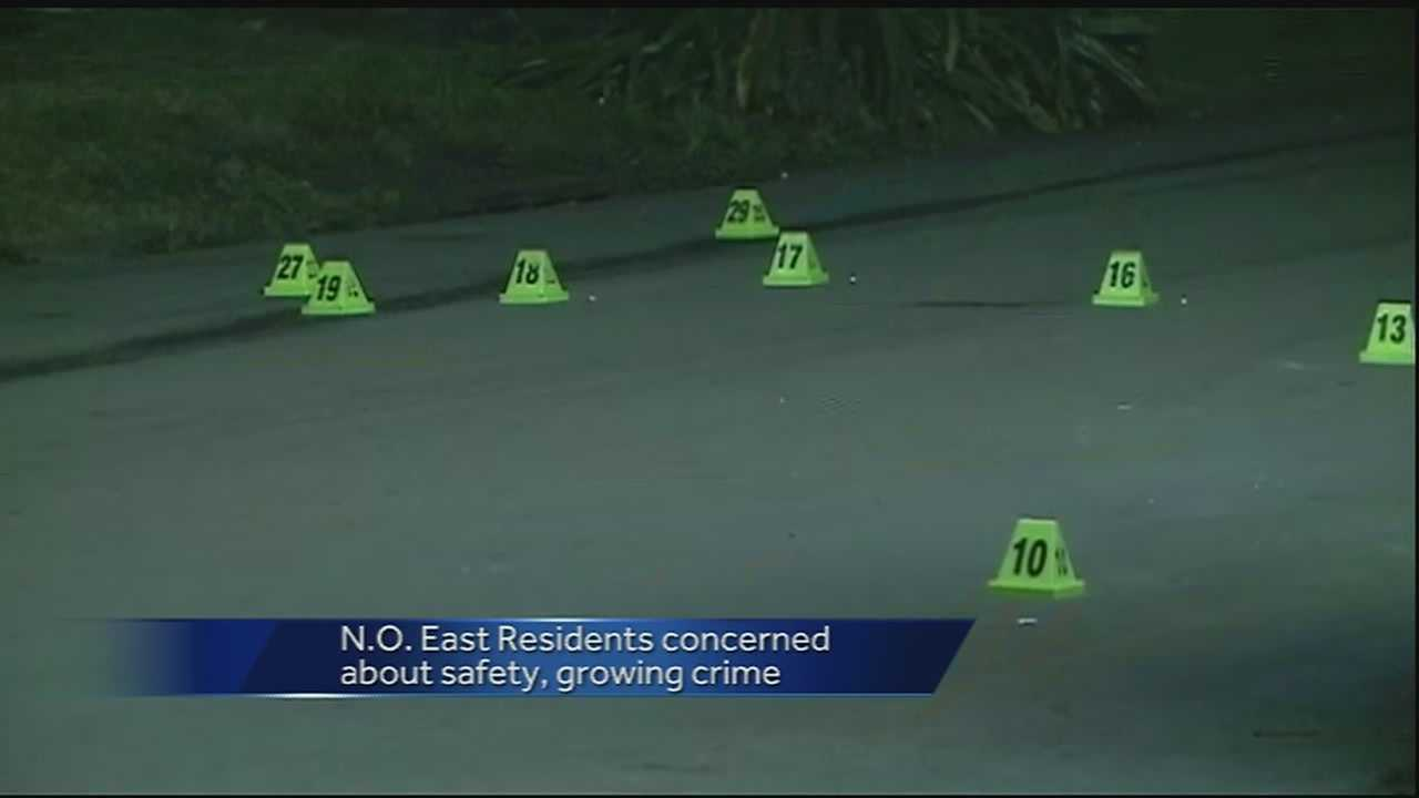 The crime rate rose to 162 after two men were shot to death Monday night in New Orleans East.