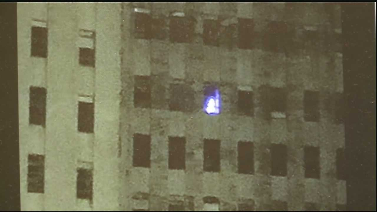 So what was that light coming from a window at Charity Hospital?