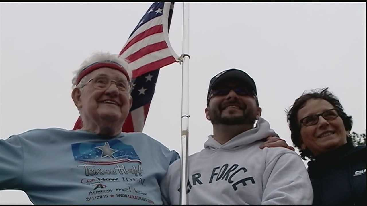 When 92-year-old Ernie Andrus decided to go out for a run back in October 2013, he made it a big one.