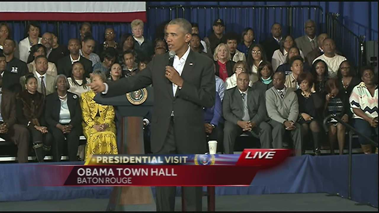 President Obama Baton Rouge town hall (Part 1)