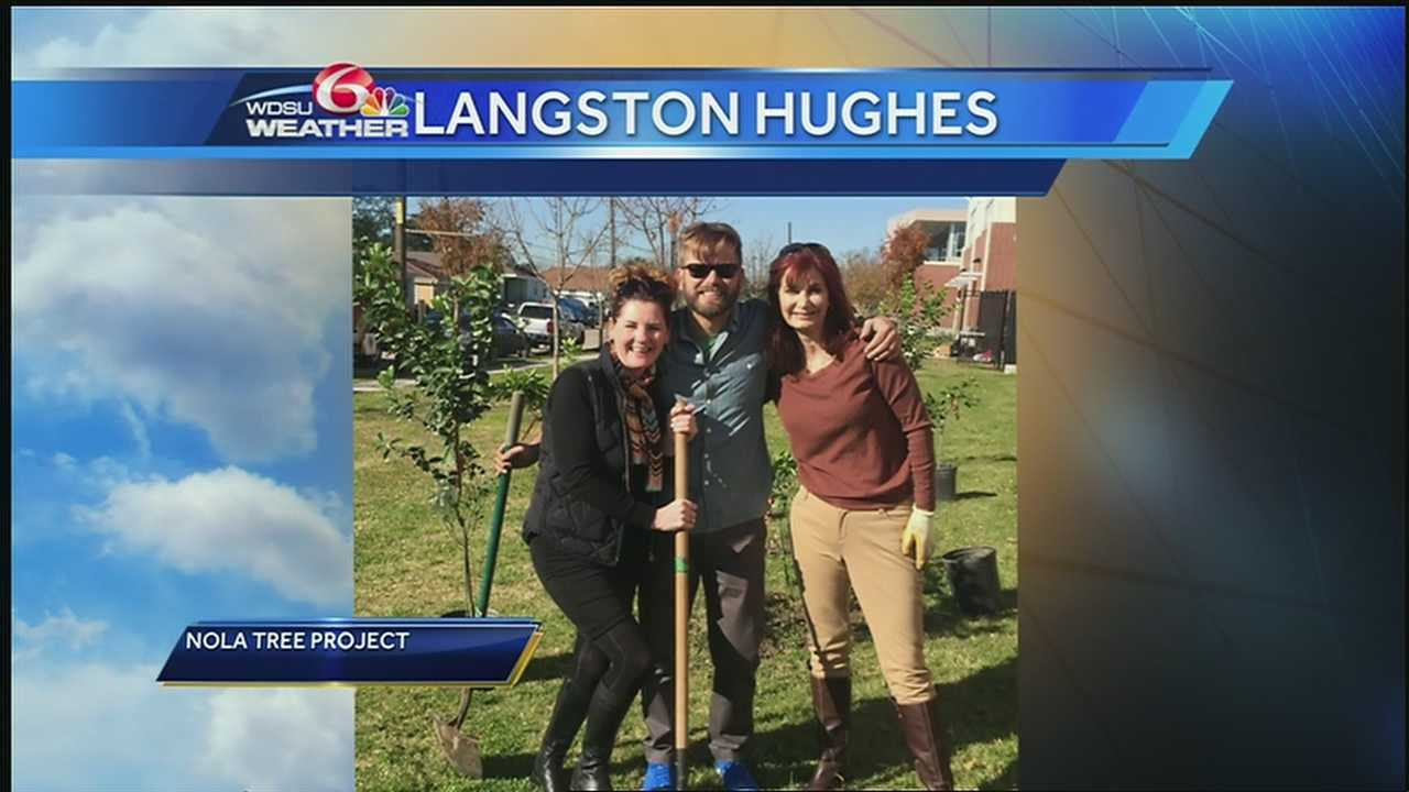 Langston Hughes Academy turned a bit more green earlier this week with the help of NOLA Tree Project and WDSU chief meteorologist Margaret Orr.