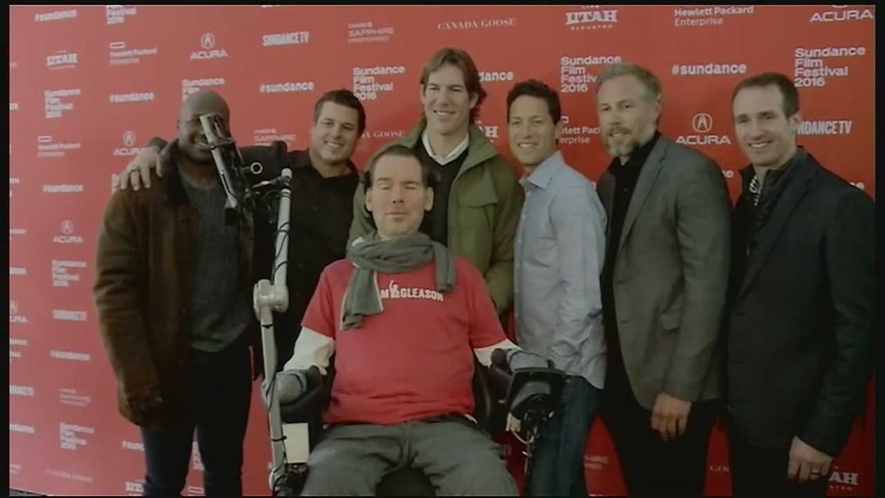"A moment years in the making happened Saturday morning for Steve Gleason. The former Saints star's film ""Gleason"" made its world premiere at the Sundance Film Festival."