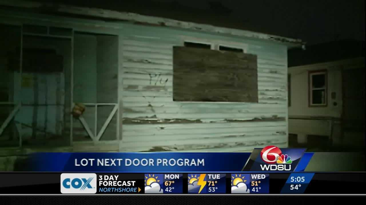 The New Orleans Housing Authority's Lot Next Door Program relaunched Monday morning.