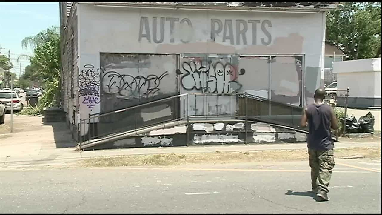 An abandoned building on St. Claude Ave. has seen better days. After Thursday's City Council vote its days are numbered.