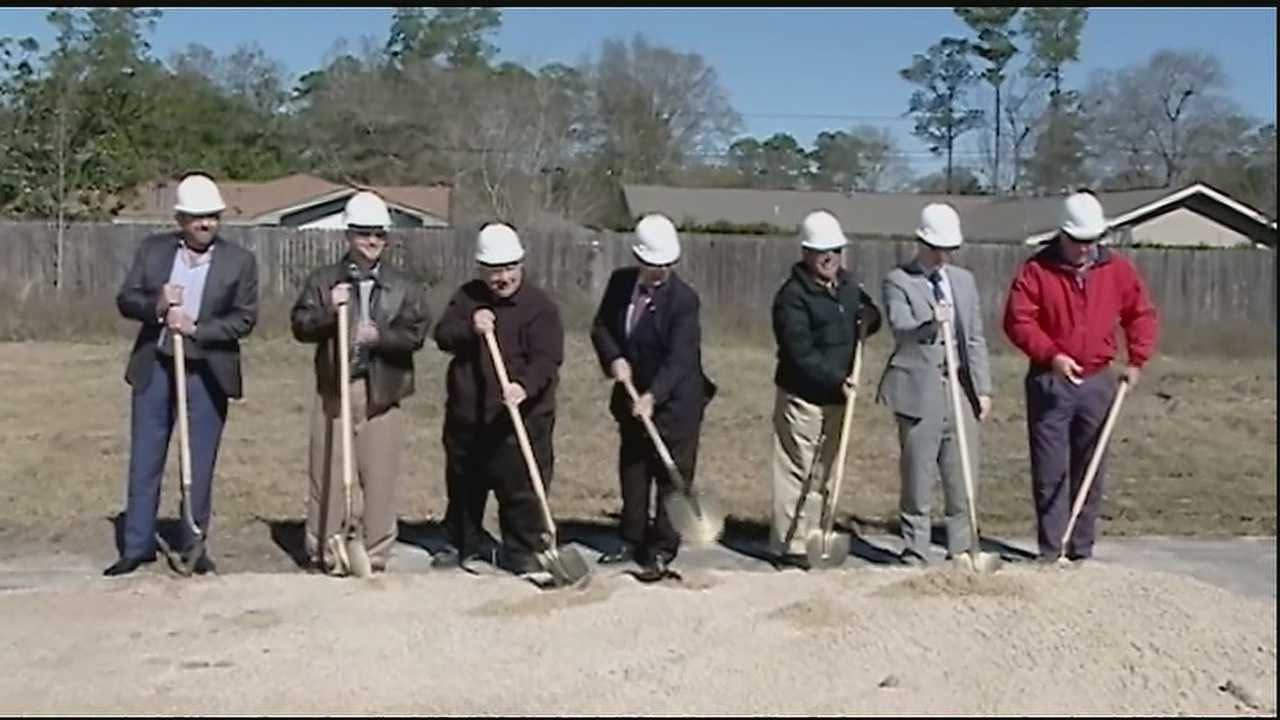 Ground was broken in Slidell on Thursday for a long-awaited drainage project aimed at protecting hundreds of families.