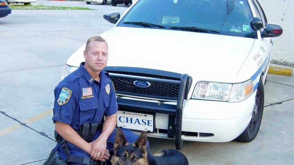 Sgt. Chris Newman and K-9 Officer Chase
