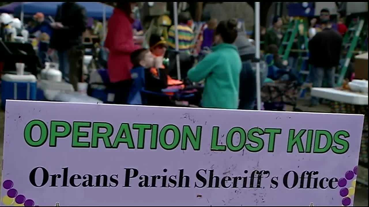 Reserve deputies keep a close eye on lost kids during Carnival season.