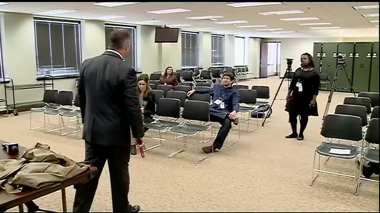During the seminar, federal agents gave reporters demonstrations is use- of-force scenarios and the split second decisions that agents face on the streets each day.