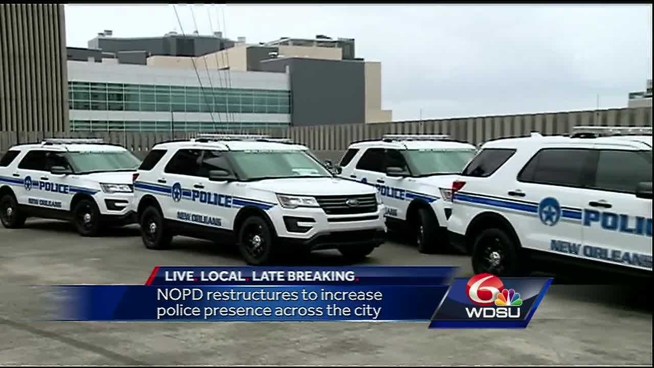 Neighborhoods across New Orleans will see an increase in police presence with the addition of 54 officers to patrols beginning this week, officials said.
