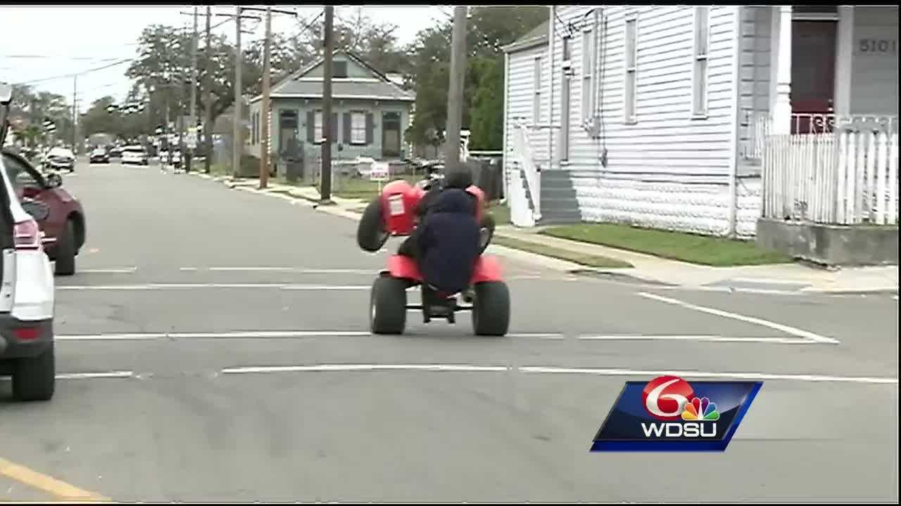 New Orleans police say they're cracking down on ATV riders, especially in light of an ATV accident that left 5 people injured Sunday night.