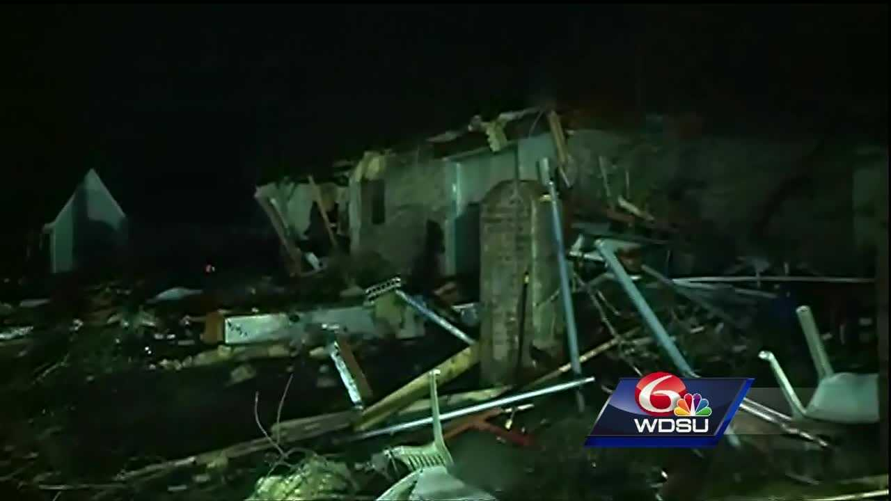 A home in LaPlace was destroyed after severe weather pushed through the area on Tuesday.