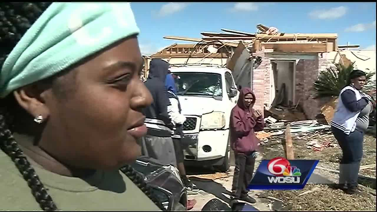 In the Palmetto Lake neighborhood in Laplace, Ajoya Perrilloux's home is almost totally destroyed. But she knows one thing.