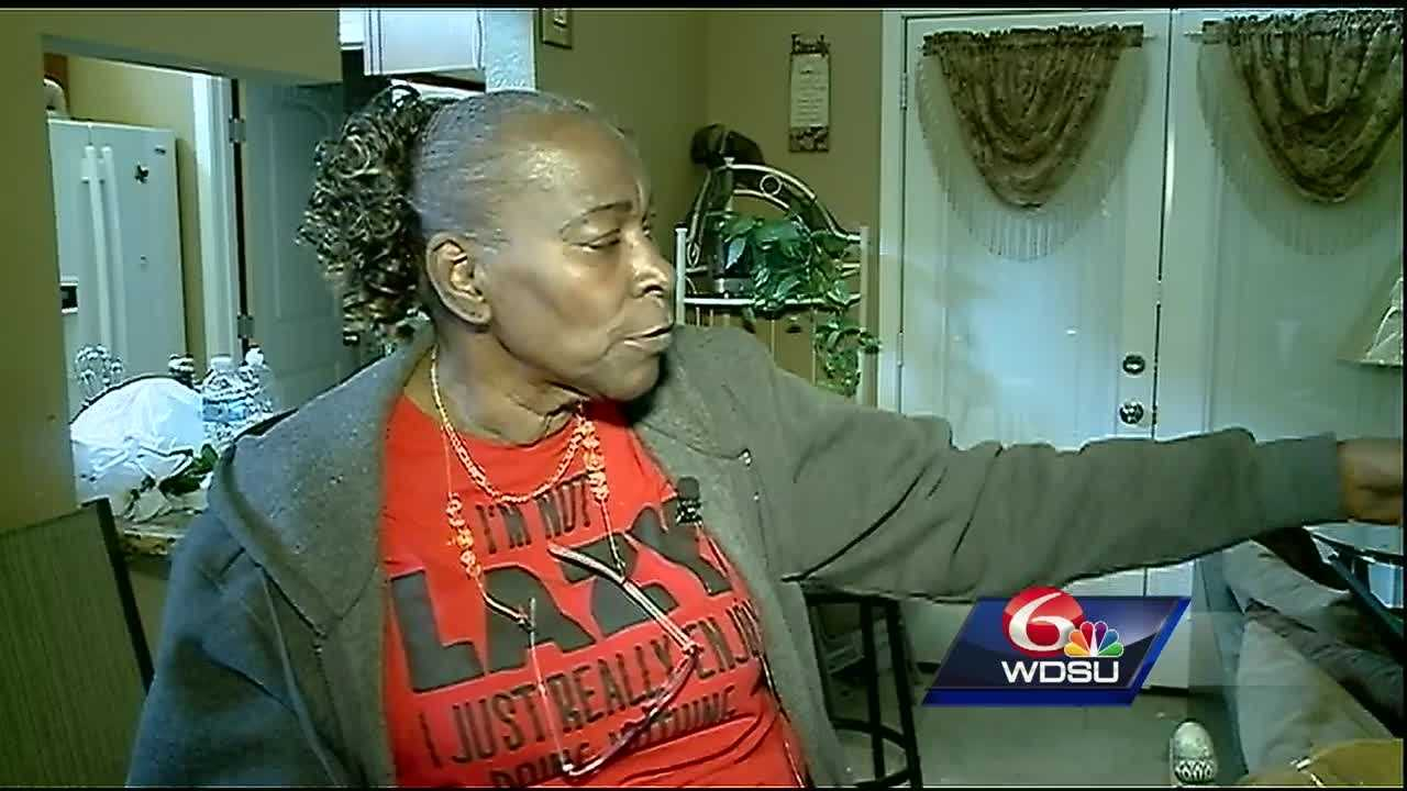 Repair work is well underway at Edwina Williams' home in LaPlace. She rode out Tuesday's storm in her bedroom closet.