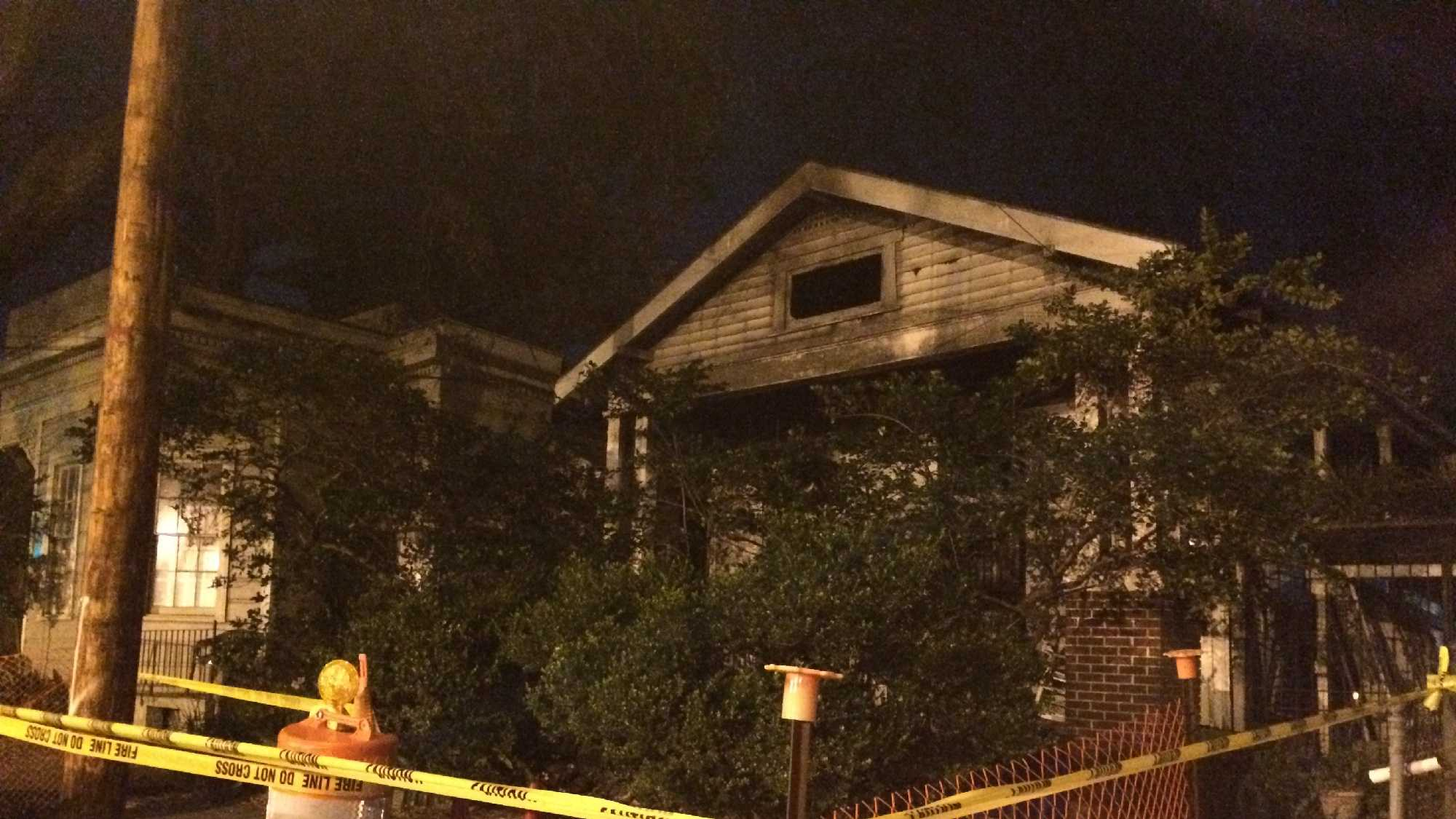 The 4-alarm fire started in this 5-unit rental and spread to the single-family home nearby.
