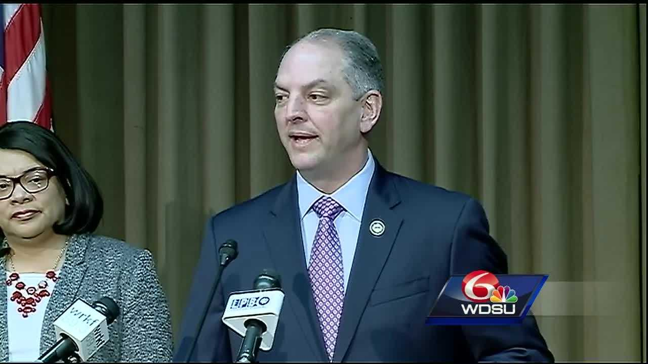 At a news conference called by Gov. John Bel Edwards on Friday, the governor says that lawmakers are slacking this special session.