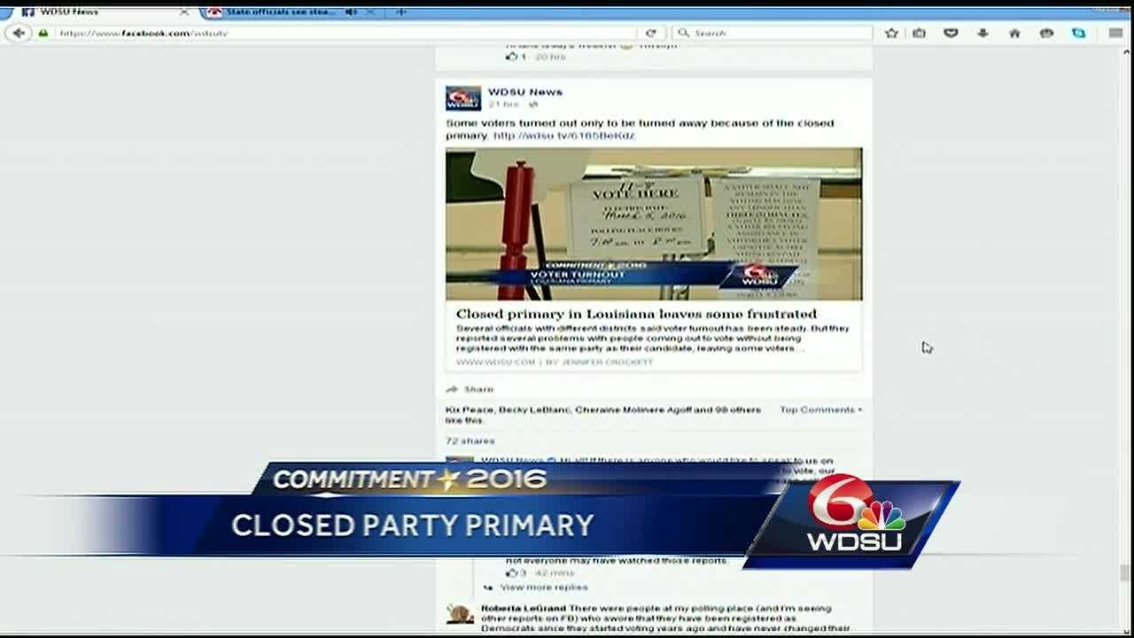 Louisiana's presidential primary is over, but the conversation about voting is just beginning. Several people are outraged after being turned away at the polls Saturday, and social media is spreading theories about why.