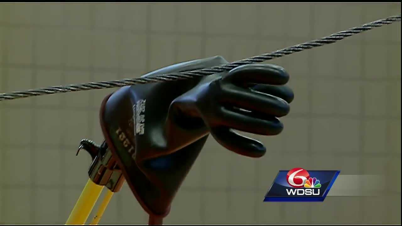 "First responders and parish workers in Jefferson Parish got a fiery reminder of the dangers of power lines during Entergy's ""Arcs and Sparks"" presentation on Tuesday."
