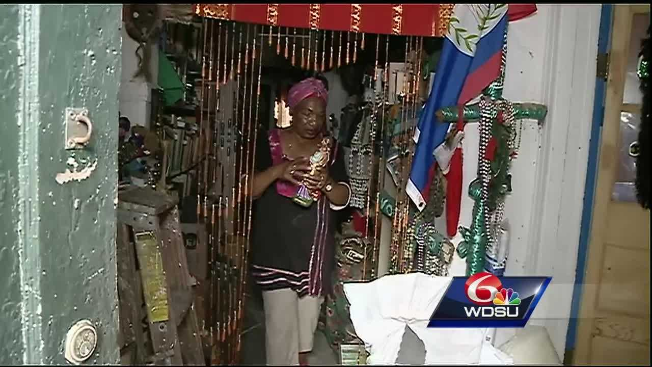 A fire damaged a voodoo temple in the French Quarter. The priestess is now working to rebuild it.