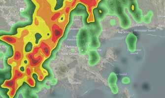1 PM THURSDAY: The National Weather Service says the first line of heavy rain will contain severe weather in the form of high winds and a possible isolated tornado.