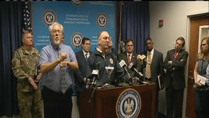 Governor Edwards took part in a Unified Command Group (UCG) Briefing with the Governor's Office of Homeland Security and Emergency Preparedness (GOHSEP) regarding the recent severe weather in North Louisiana.