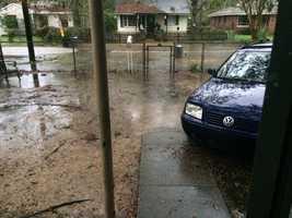 Flooding in my own backyard.