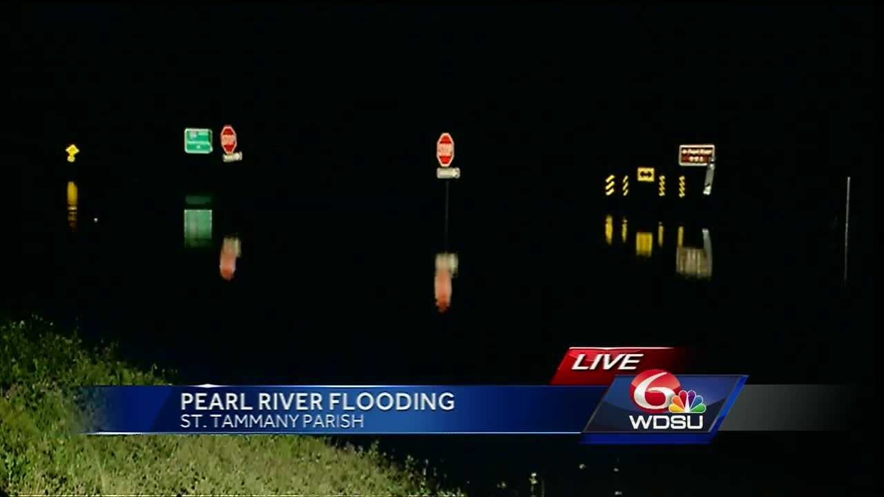 Several neighborhoods on both sides of the Pearl River in St. Tammany Parish are taking on water.