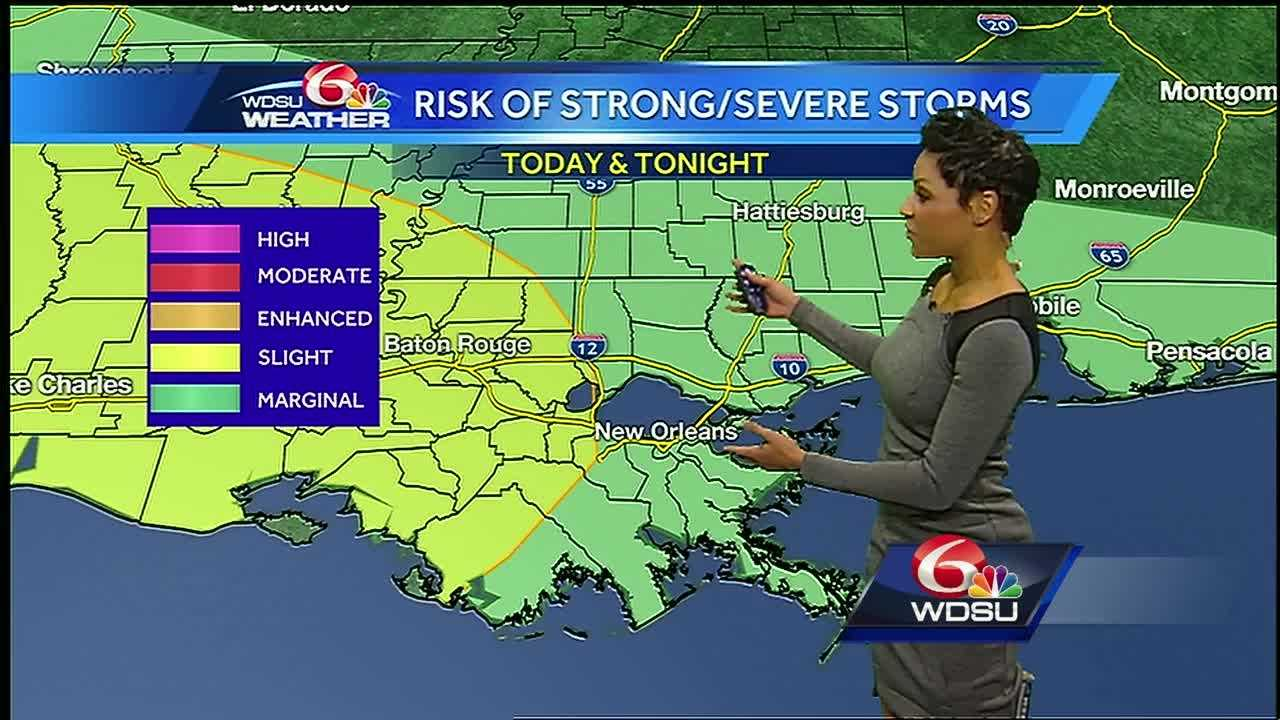 The chance for numerous showers and gusty thunderstorms continues today and through Saturday afternoon. In addition to a stalled frontal boundary, upper level disturbances will move across the region. There is a marginal-to-slight risk for a few severe storms Friday. Hazards: 70+ mph wind gusts, periods of heavy rain, and very large hail. Stay weather aware.